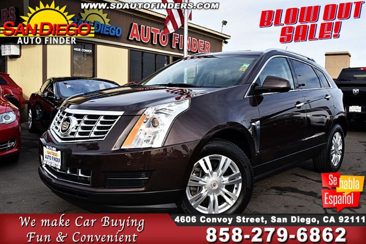 2015 Cadillac SRX Luxury Collection,Pano roof,Low miles,Like New SdAutoFinders.com,Clean Carfax,Immaculate,