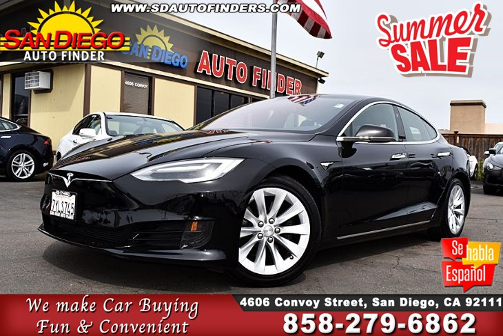 2017 Tesla Model S,75 , ALL GLASS Panoramic Roof, SdAutoFinders.com,1 Owner,Low Miles,