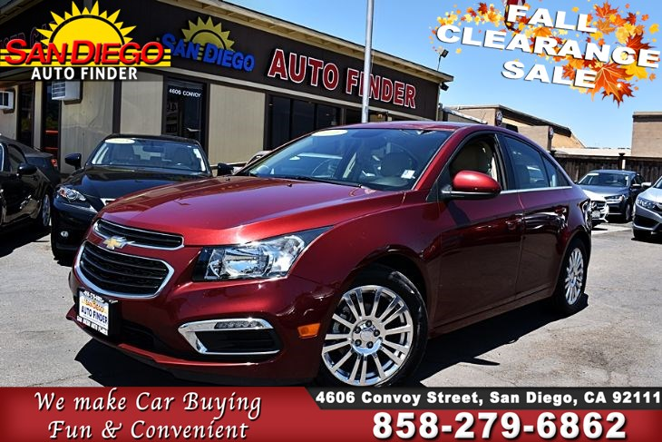 2016 Chevrolet Cruze Limited LT   ECOTEC Turbocharged 1.4 Liter GAS SAVER! w/Leather seats SdAutoFinders.com,