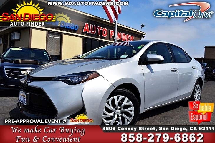 2017 Toyota Corolla LE, ,Clean Carfax, 1-Owner SdAutoFinders.com