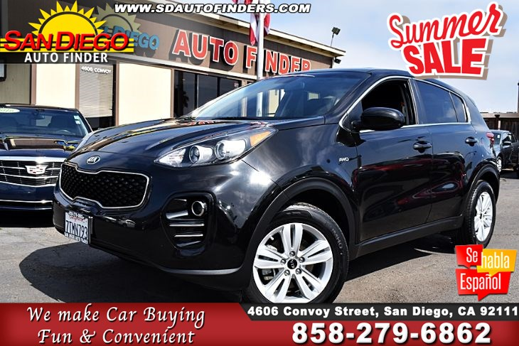 2017 Kia Sportage LX AWD, Just Like New, Vow, Awesome, SdAutoFinders.com, Clean Carfax,Great Value,