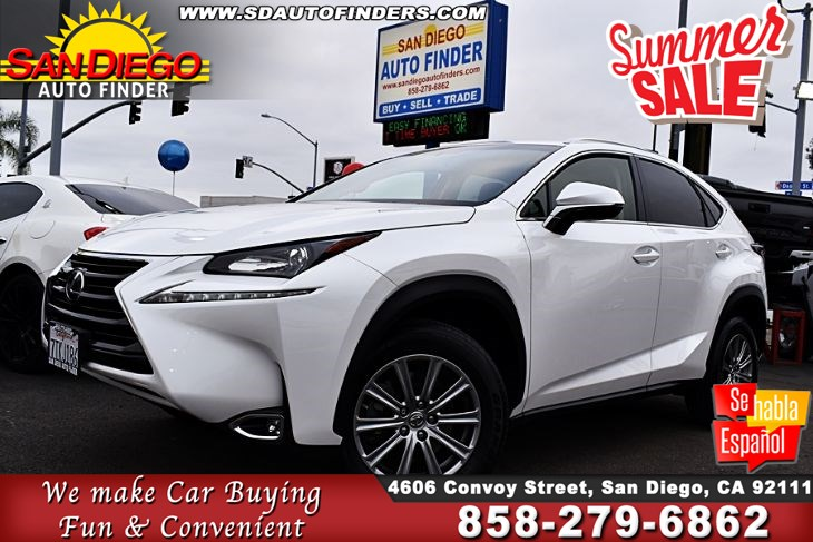 2016 Lexus NX 200t, Only 20K Miles, 1 Owner,Just Gorgeous, SdAutoFinders.com, A Must See,PRICED TO SELL,
