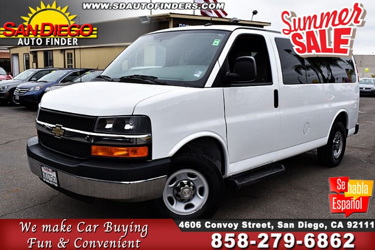 2015 Chevrolet Express LT,12 Passenger, Super Nice,Great Value, SdautoFinders.com, A Must See,Priced to sell,