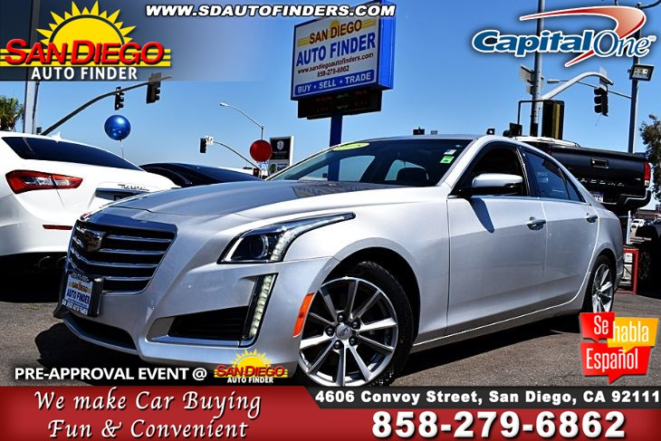2018 Cadillac CTS 2.0L Turbo Luxury, MoonRoof Navigation W/Apple Play* Clean Carfax,SdAutoFinders.com,