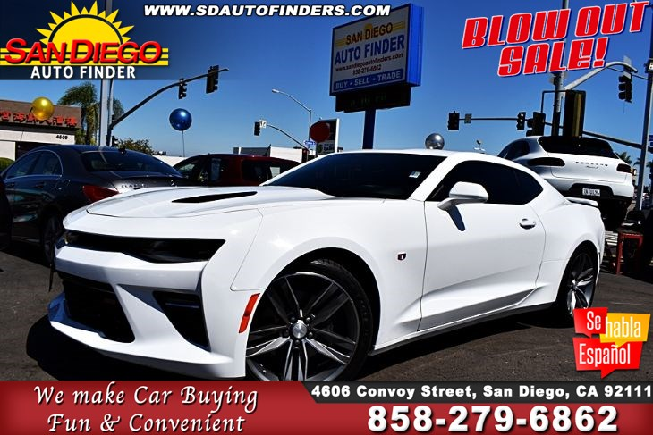 "2017 Chevrolet Camaro ""SS"" V8 Coupe 6.2L With 455hp Clean Carfax,SdAutoFinders.com"