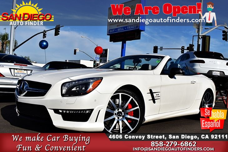 2015 Mercedes-Benz SL 63 AMG Roadster In Designo Magno Cashmere White !!HARD TO FIND!! Must SEE!! Sdautofinders.com