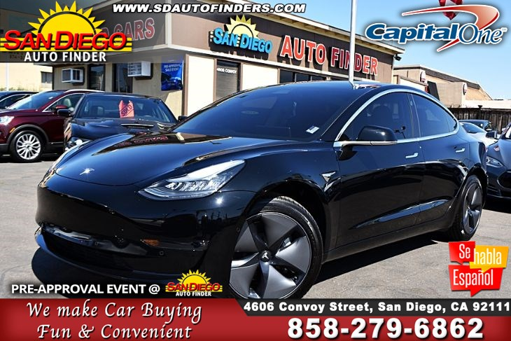 2019 Tesla Model 3 STANDARD PLUS Only 1K  Miles SdAutoFinders.com,As Close As You Get To Brand NEW