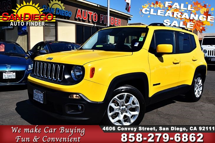2015 Jeep Renegade Latitude,Super Nice,A must see, SdautoFinders.com,Clean Carfax,Great Value,