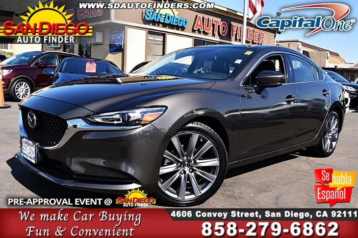 2018 Mazda Mazda6 Touring,Navigation Leather Seats MoonRoof 1-Owner 21K Miles Must See!! Sdautofinders.com