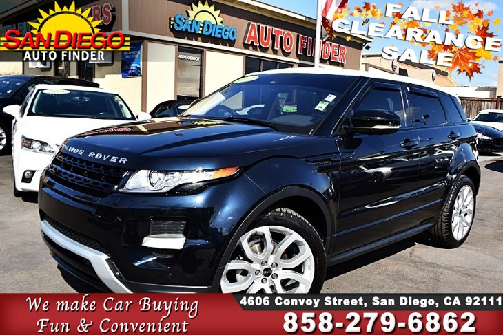 2012 Land Rover Evoque Dynamic Premium AWD TurboCharged 2.0 Liter Navigation FullyLoaded   SdAutofinders.com,