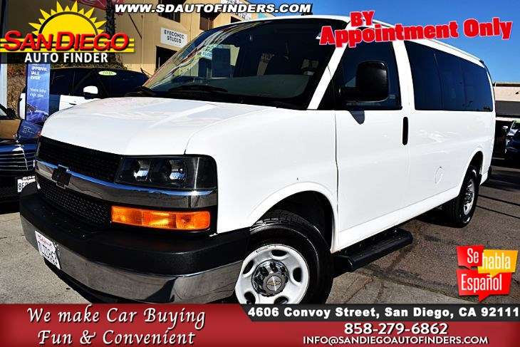 2015 Chevrolet Express Passenger LT, 2500,Clean Carfax, SdAutoFinders.com,Highway Miles but real Nice,