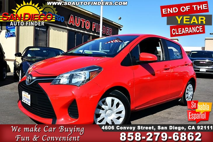 2016 Toyota Yaris L 5 Door Hatchback Automatic 1-Owner 36mpg Clean Carfax SdAutoFinders.com,