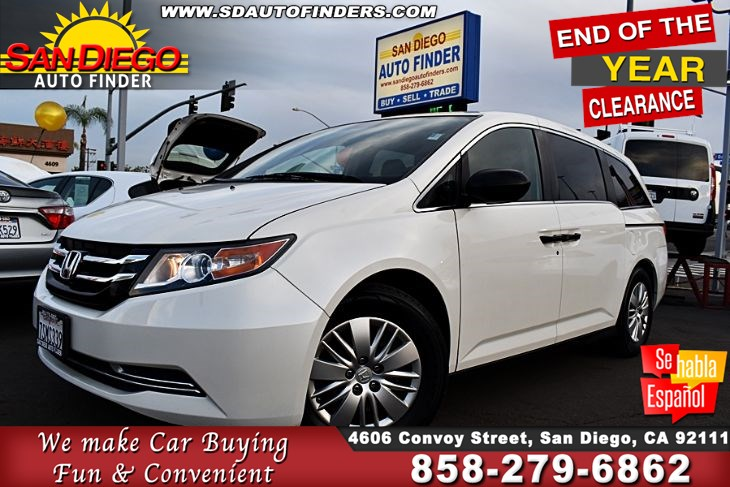 2016 Honda Odyssey LX, 1 owner,Clean Carfax,Super Nice, SdAutoFinders.com,Great Gas Mileage,