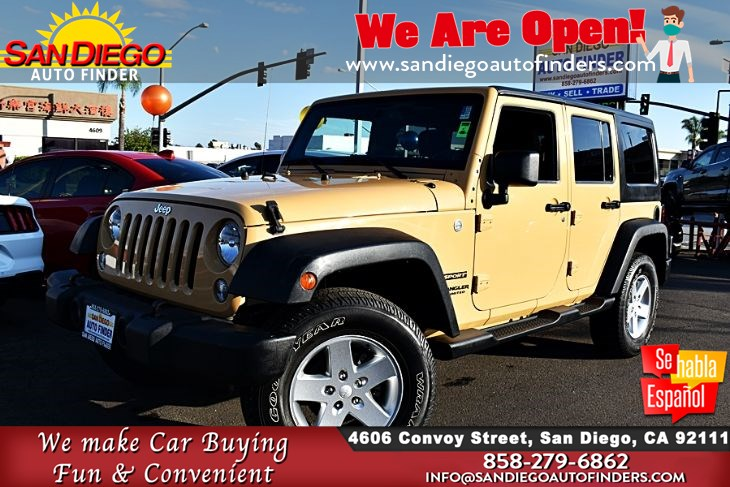 "2014 Jeep Wrangler Unlimited 4x4 Sport, 33K Miles 6-Speed Manual ""Great Price"" SdAutoFinders.com,"