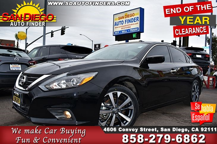 2017 Nissan Altima 2.5 SR 1-Owner Only 25K Miles 37mpg A/T with Paddle Shifters Sdautofinders.com