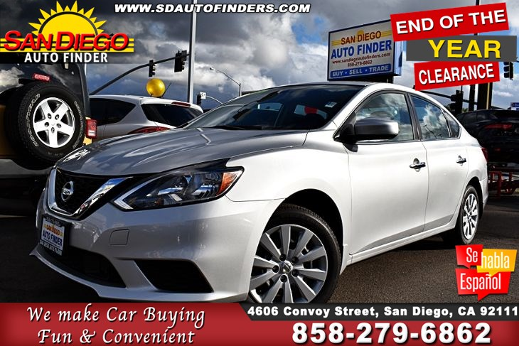 "2018 Nissan Sentra S, 1-Owner, 37mpg ( Only 6k Miles) Clean Carfax,  ""GREAT PRICE"".Sdautofinders.com"
