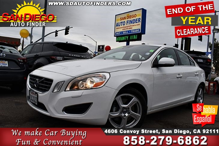 2012 Volvo S60 T5  Navigation MoonRoof Clean Carfax 1-Owner 30mpg VERY CLEAN SdAutoFinders.com,