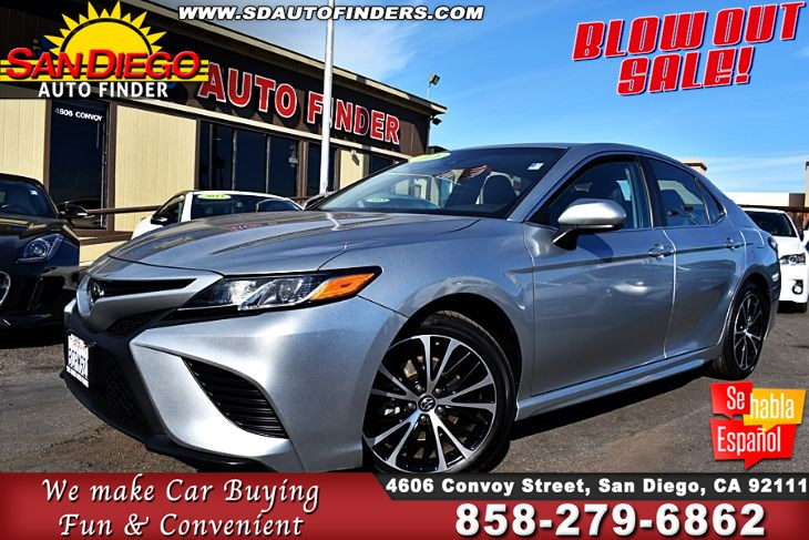 2018 Toyota Camry SE 1-Owner 26K Miles 39mpg Leather Seats Great Sedan! Sdautofinders.com