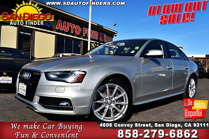 2014 Audi A4'Auto quattro 2.0T Prem Plus,1-Owner,Only 59k Miles, 'NAV',Loaded,SdAutoFinders.com