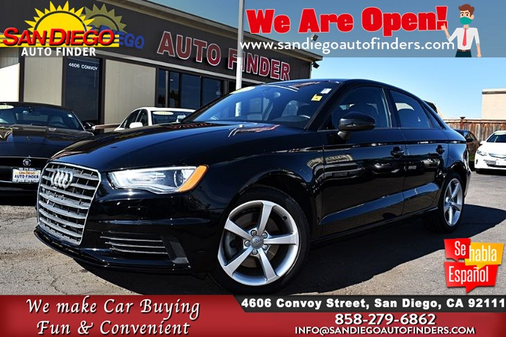 2015 Audi A3 1.8T Premium Sedan Clean Carfax  MoonRoof Leather Seats HD Radio Sdautofinders.com