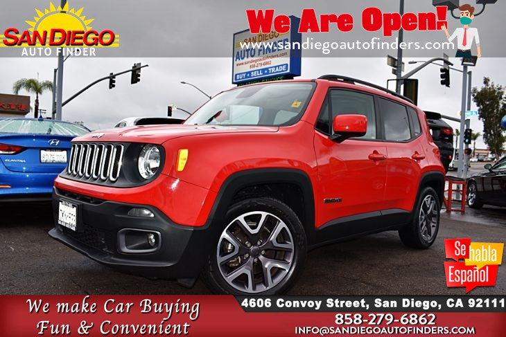 2015 Jeep Renegade Latitude Rearview Camera Keyless Entry Clean Carfax Sdautofinders.com