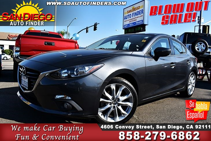 2015 Mazda Mazda3 s Touring 2.5L Cyl 6-Speed Manual SunRoof Navigation Leather Seats  Sdautofinders.com