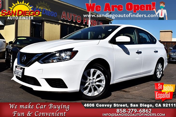 2018 Nissan Sentra SV 1-Owner 37mpg Rearview Camera Clean Carfax Keyless Entry Sdautofinders.com
