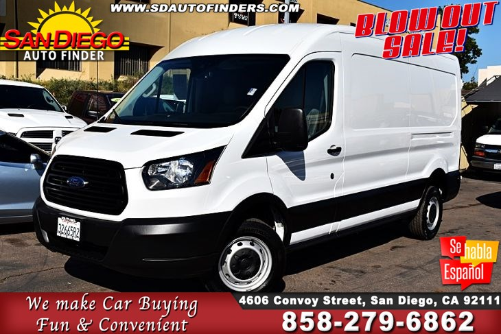 "2019 Ford Transit T-250 Cargo Van-->>"" 9K Miles""Rearview Cam 1-Owner Clean Carfax Sdautofinders.com"