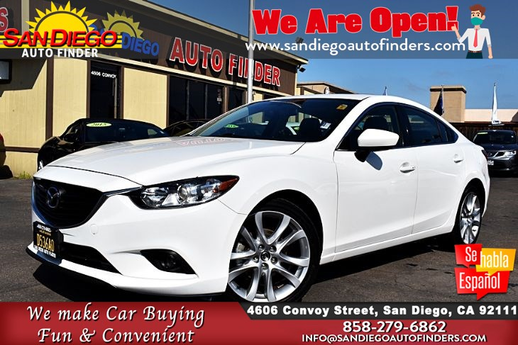 2016 Mazda 6 Touring Navigation MoonRoof Leather Seat's 1-Owner Clean Carfax Sdautofinders.com