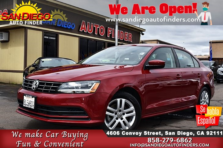 2018 Volkswagen Jetta 1.4T S Auto Back-Up Camera, 38mpg Clean Carfax, Sdautofinders.com,