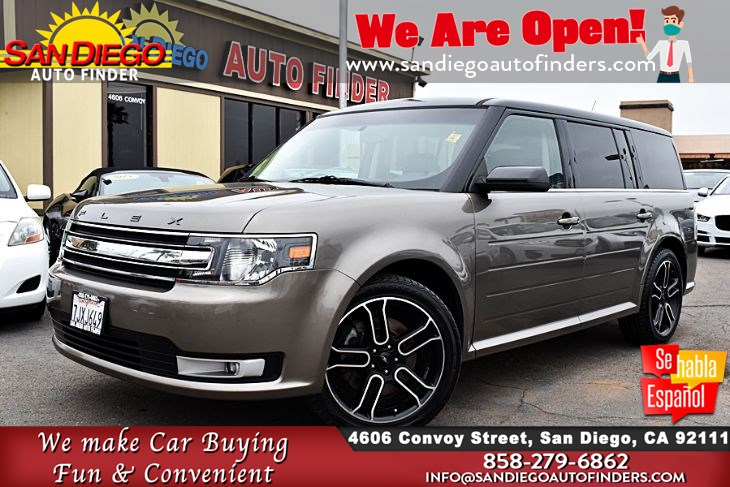 2014 Ford Flex SEL 3rd Row Leather Seats Navigation only 55K Miles FullyLoaded!!  Sdautofinders.com