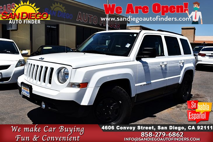 2016 Jeep Patriot Sport 6-Speed 2.4L 4 Cyl only 35K Miles 1-Owner Clean Carfax  Sdautofinders.com