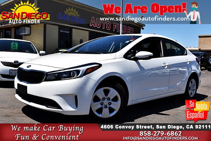 2017 Kia Forte LX Sedan City: 29 Hwy: 38 MPG 1-Owner Clean Carfax Sdautofinders.com