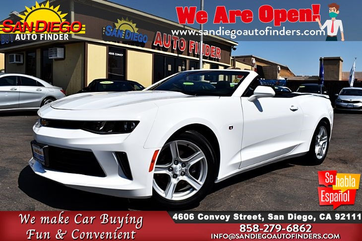 2018 Chevrolet Camaro Convertible 1LT Back-Up Camera MyLink radio 31mpg SdAutoFinders.com,