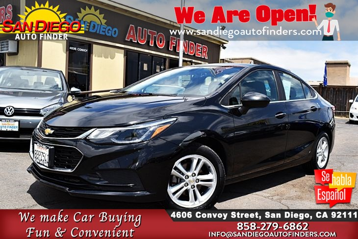 2018 Chevrolet Cruze LT, 1-Owner Clean Carfax MyLink Apple CarPlay 40mpg  Sdautofinders.com,