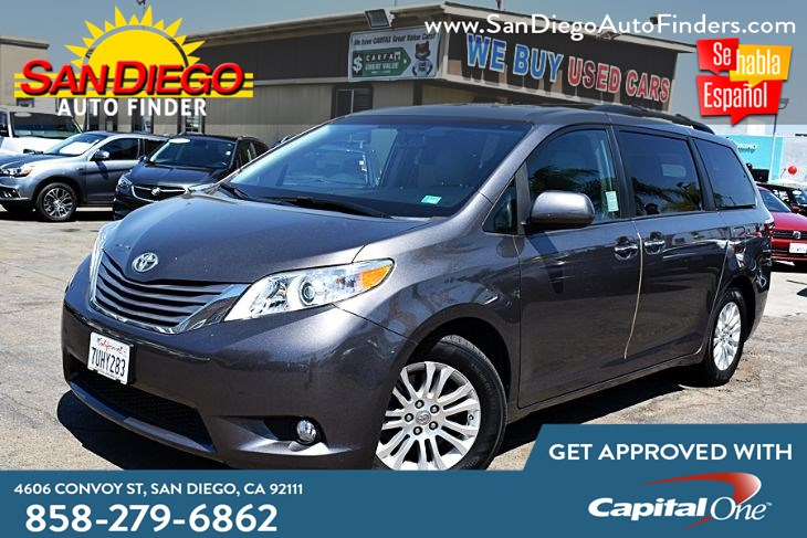 2016 Toyota Sienna XLE 8-Passenger Navigation MoonRoof 43k Miles Leather Seat's Power Doors Sdautofinders.com
