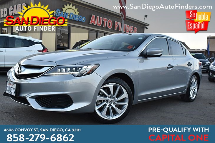 2017 Acura ILX  2.4 Liter  only 18k miles SunRoof Clean Carfax Great Price!!  Sdautofinders.com,