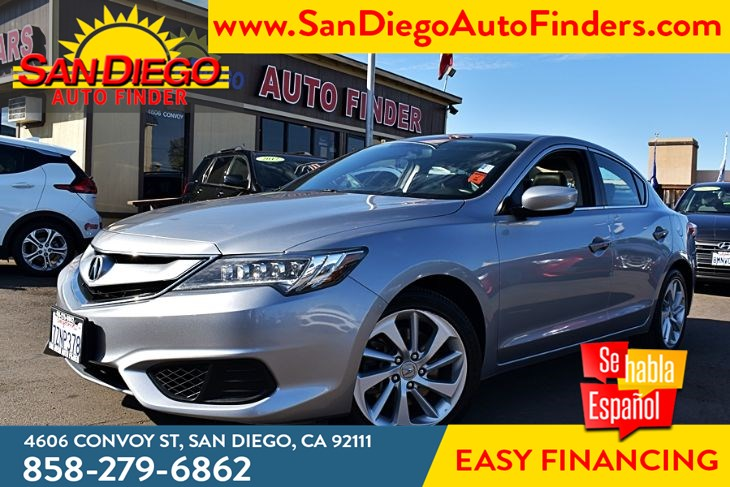 2017 Acura ILX  2.4 Lit Leather Heated Front Seats 1-Owner Clean Carfax 35mpg Sdautofinders.com
