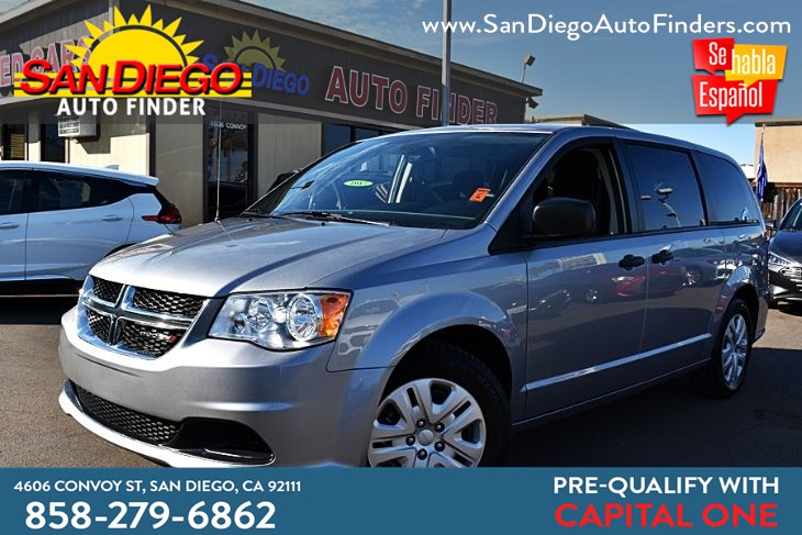 2019 Dodge Grand Caravan SE, 1 owner, Clean Carfax, sdautofinders.com, Captain chairs, Like New,