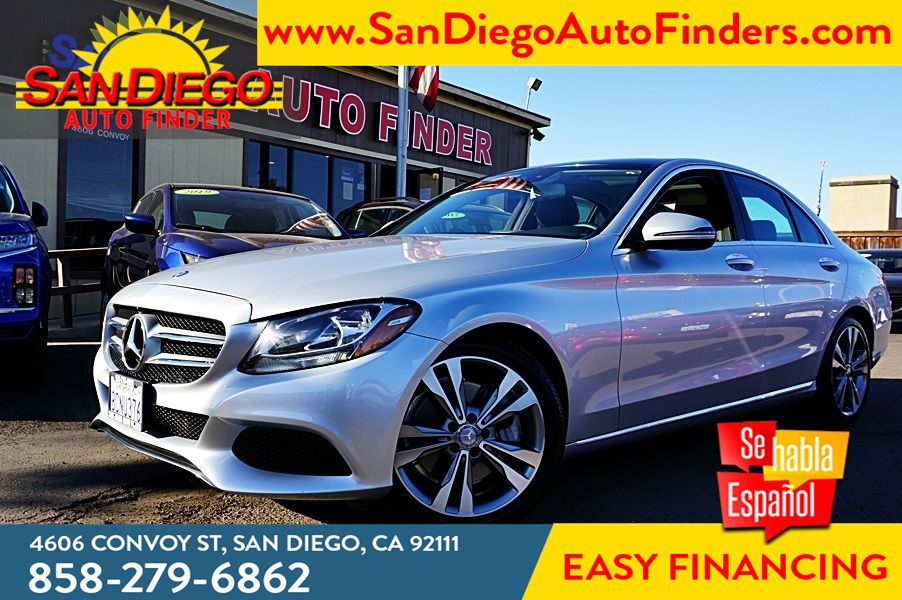 2017 Mercedes-Benz C 300 Premium 1 Package Panorama Roof Keyless ignition Backup Camera Sdautofinders.com