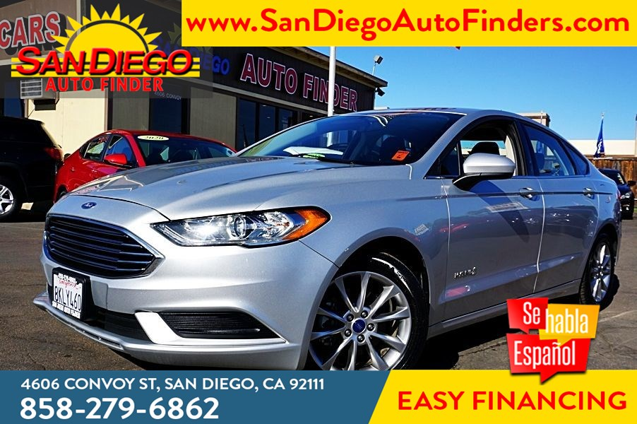2017 Ford Fusion Hybrid SE City: 43 Hwy: 41 MPG 1-Owner Rearview Camera Sdautofinders.com