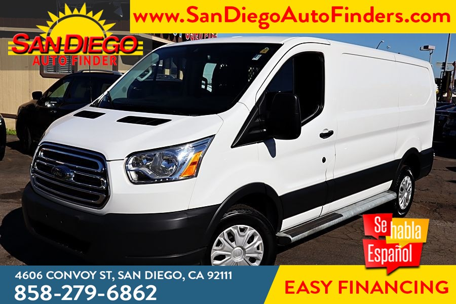 "2018 Ford Transit Van CARGO,T-250 130"" Low Rf,1 OWNER, 9000 GVWR Swing-Out RH Dr,Driver Cage protection,"