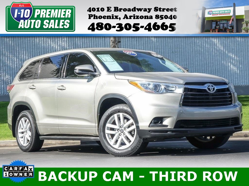 2016 Toyota Highlander LE  - One Owner