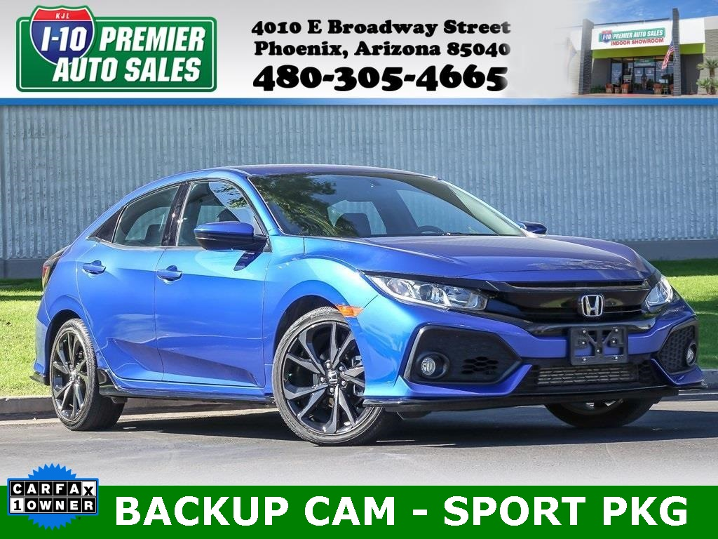 2018 Honda Civic Hatchback Sport  - Like New!  LOW LOW Miles!