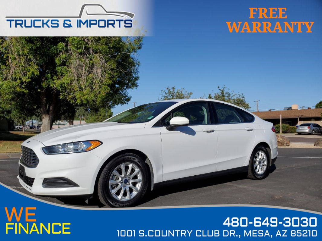 2016 Ford Fusion S Clean CarFax shows Detailed Service Records!