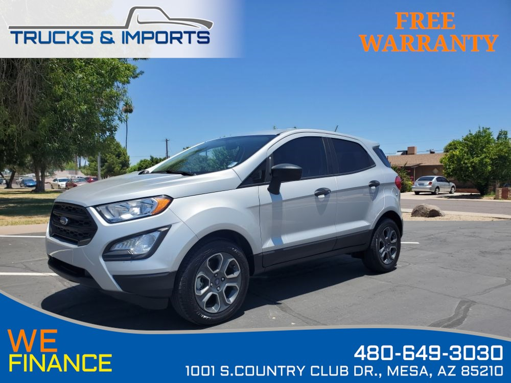 2018 Ford EcoSport S EcoBoostBackup Camera 29 MPG!