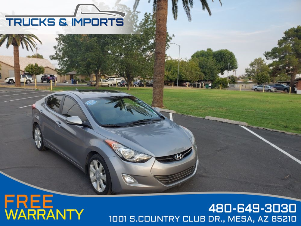 2013 Hyundai Elantra Limited PZEV One Owner Clean CarFax Service Record
