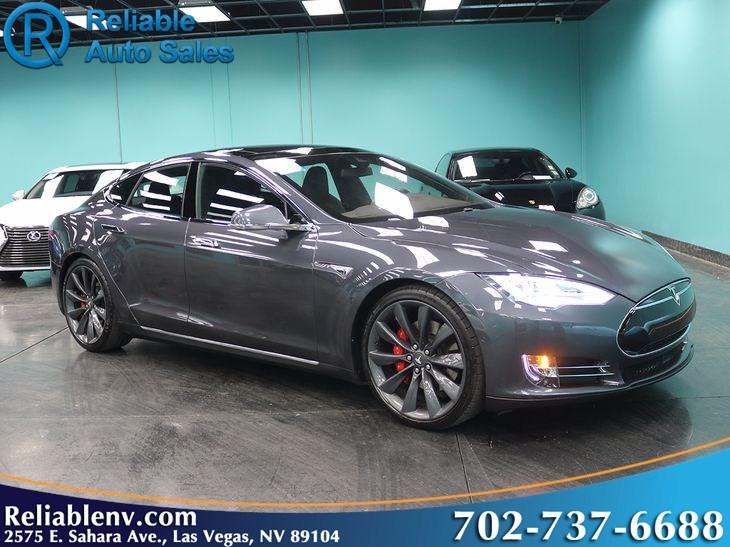 2015 Tesla Model S P90d W Autopilot Ludicrous Mode 3rd Seat Near
