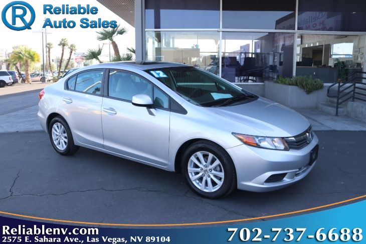 2012 Honda Civic Sdn EX  W / CERTIFIED WARR