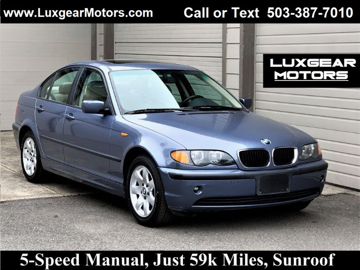 2002 BMW 3 Series 325i Manual 5-Speed, One-Owner, Sunroof